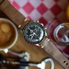 New and improved Riviera formula. The Riviera strap, available in several colors, distinguishes itself from the Portofino straps in its softness. Mechanical Watch, Sport Watches, Stainless Steel Case, Omega Watch, Vintage Inspired, Brown, Cart, Accessories, Image