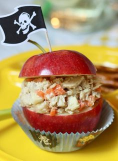Apple Tuna Treasure Chest! | Adorable & great for picky eaters! We use chunk light tuna to keep the mercury level low!