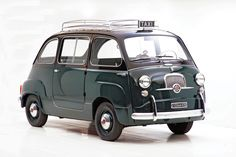 """Multipla Taxi - 22 bhp, 633 cc liquid-cooled, rear-mounted four-cylinder engine, four-speed manual gearbox, independent front suspension with wishbones and coil springs, independent rear suspension with radius arms and coil springs, four-wheel hydraulic drum brakes. Wheelbase: 78.75"""""""