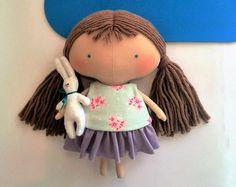 Little Dolls handmade Girl toy Tilda doll Gift girls Kids Gift