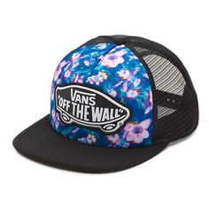 d4f2e534868a Hats Vans Off The Wall Women s Beach Girl Trucker Hat Cap - Blurred Floral