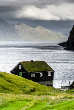 """scandinaviapictures: """"The house on the fjord, Faroe Islands (by Denmark. Wonderful Places, Beautiful Places, Into The Wild, Photos Voyages, Lofoten, Faroe Islands, Beautiful Landscapes, Beautiful World, Wonders Of The World"""