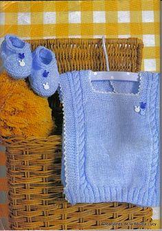 Receita de Tricô: Coletinhos e sapatinhos para bebê em tricô