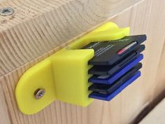 SDcard holder type by chibinemo - GADGETS SDcard holder type – Thingiverse - 3d Printing Business, 3d Printing Diy, 3d Printing Service, 3d Printer Designs, 3d Printer Projects, 3d Projects, 3 D, 3d Printing Machine, 3d Printed Objects