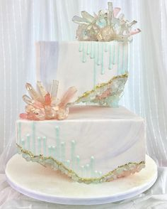 Sugar Monsters contribution to this insanely popular Geode cake trend. 😘 Thank you to Eric over at… Crazy Cakes, Crazy Wedding Cakes, Fancy Cakes, Pink Cakes, Pretty Cakes, Cute Cakes, Beautiful Cakes, Amazing Cakes, Amazing Birthday Cakes