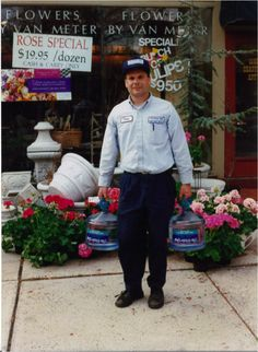 In celebration of our 25th anniversary.... Co-founder, Doug Shinn, making a 3 gallon delivery. #bottledwater #tbt