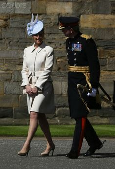 The Earl of Wessex and The Countess of Wessex arrive at the Palace of Holyrood, Edinburgh, to inspect the guard of honour from the 42 Commando Royal Marines marking the start of the Royal Marines 350th anniversary.....May 16, 2014