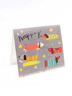 Simply Sausage Dog Birthday Card