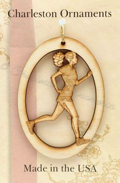 Cross Country Female Ornament : Charleston Ornaments, Handcrafted and personalized wooden ornaments