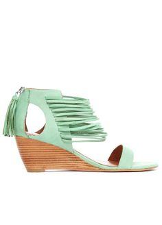Mint Wedge Sandals / matiko