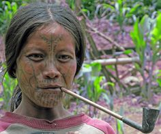 Mun woman • Southeastern Chin State, Myanmar::..*•#~~$??*
