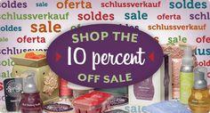 Shop the 10% off sale.