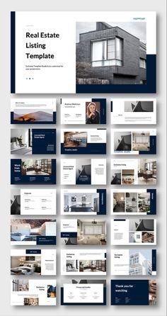 Interior Design Presentation, Presentation Design Template, Presentation Layout, Business Presentation, Architect Portfolio Design, Architecture Portfolio, Booklet Design Layout, Layout Design, Modern Properties