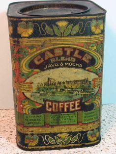 Antique Castle Blend coffee tin.