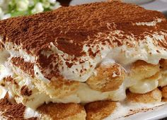 A special holiday treat- Pumpkin Tiramisu, an Itailian Dessert Famous Italian Dishes, Popular Italian Food, Italian Desserts, Italian Recipes, Dessert Au Nutella, Italy Food, Tiramisu Cake, Thanksgiving Desserts, Cookies Et Biscuits