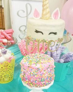 Unicorn First Birthday • One Cake Topper • First Birthday Girl • Cake Smash from Haylee's Boutique