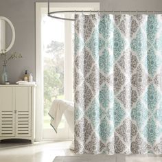 Home Essence Jane Cotton Shower Curtain Walmart And Wall Paint With Grey Floor