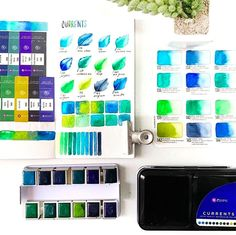 Presenting: New Watercolor Confections + Oil Pastels — Art Philosophy Prima Watercolor, Watercolor Pans, Watercolor Paint Set, Watercolor Ideas, Oil Pastel Art, Oil Pastels, Stationary School, Prima Marketing, Color Swatches