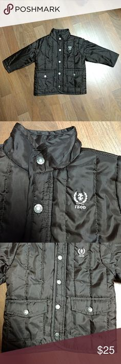 Izod toddler boys Jacket Used but in Like new condition really cute  toddler Boys Izod  jacket it's a 24 month size so a  2T,  comes from a smoke free home Jackets & Coats Puffers