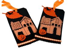 Halloween Gift Tags  Set of 2 All Hallows Eve by valburgesscollage,
