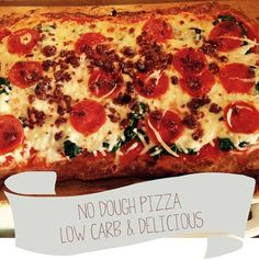 No Dough Pizza, Trim Healthy Mama 'S' Meal. Low carb, gluten free.