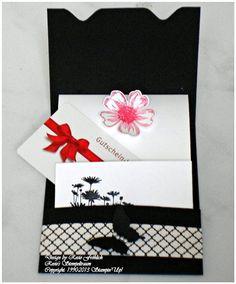 Geschenkkarte in schwarz/weiß http://rosiesstempeltraum.blogspot.de/