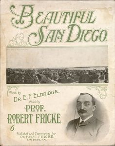 Beautiful San Diego.  Vince Meades Sheet Music Collection.