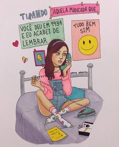 -NATH A MELHOR Art Hoe Aesthetic, Aesthetic Drawing, Bff, Kids On The Block, Hippie Art, Mo S, Pictures To Draw, Cute Illustration, Art Sketchbook