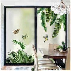 Window Stickers, Art Decor, Flower Window, Wall Art Decor, Glass Design, Succulents Prints, Door Glass Design, Cactus Wall Art, Stained Glass Window Film