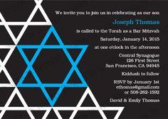 Bar Mitzvah Invitation, Bat Mitzvah Invitation (($))