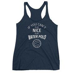 Water Polo Cute Joke Women's Racerback Tank #racerback #waterpolo #tanktop #funny