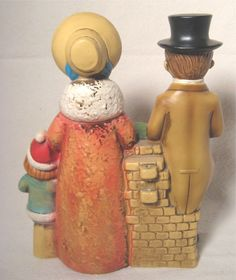 Vintage Christmas Carolers Figurine Plaster Papier Mache Made in ...