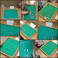 "Early handwriting patterns in sand - FREE printable from Rachel ("",)"