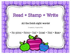 Students+read,+stamp+and+write+each+sight+word+from+the+Dolch+sight+words+lists.++Words+are+presented+in+alphabetical+order.++Each+sight+word+list+is+included:+*pre-primer+*primer+*first+*second+*third+*nouns~Includes+a+blank+sheet+for+any+additional+sight+words~You+might+also+like+Dolch+Sight+Word+PuzzlesRoll+and+Write+Dolch+Sight+Words