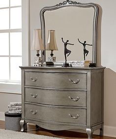 Look what I found on #zulily! Antique Silver Kensington Mirrored Three Drawer Dresser #zulilyfinds