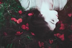 photography beauty art girl sad skinny anxiety dead calm floral roses elegant sadness fairy Woods pure pale innocence melancholy pale skin coral bones calssic