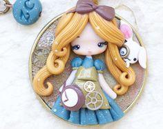 polymer clay necklace / Ariel / disney / от ZingaraCreativa