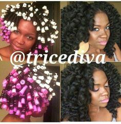 This!! Perm rod set on natural hair.