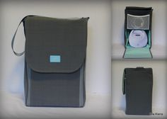 Ready to ship* Half Size Alana style Spectra Breast pump bag in Terrasol Charcoal by EllaAlana on Etsy