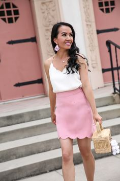 284b22580f7a 20 Best Scalloped Skirt images | Dressing up, Fashion women, Mini skirts