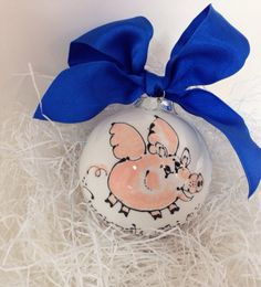 Hey, I found this really awesome Etsy listing at https://www.etsy.com/listing/208494939/flying-pig-ceramic-christmas-ornament