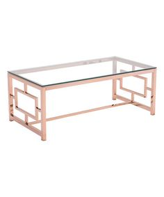 Another great find on #zulily! Rose Gold Geranium Coffee Table #zulilyfinds
