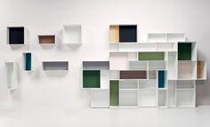 'Alma' bookcase modules by Studio 63 for Casamania