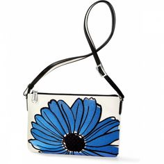 Florableu Daisy Bleu Pouch available at Daisy, Brighton Handbags, Bucket Bag, Flora, Coin Purse, Pouch, Purses, My Style, Bracelets