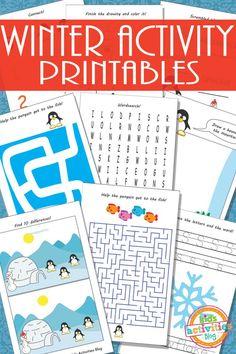 Winter Activity Printables