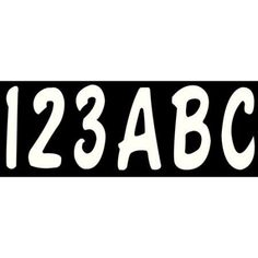 Hardline Series 200EC Registration Kit, Solid Color with Cursive Font (Includes 4 Set of 3 inch A-Z, 0-9), White