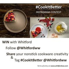 Enter Whitfords #CookItBetter Instagram Contest for a chance to WIN an IPhone: 1. Follow the Whitford company Instagram page @whitfordww  2. Share a photo of your nonstick cooking creativity; this can be anything from your favorite pan an alternative and creative pan use with or without food just free your mind and creativity. 3. Tag @ Whitfordww and use the #CookItBetter hashtag! The photo with the highest number of likes will be the winner. Hurry up! You've time until 28th February 2017…