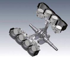 "V8 868 cc 56mm bore and 44mm stroke ""Ducati Elenore"" by Dieter Hartmann-Wirthwein"