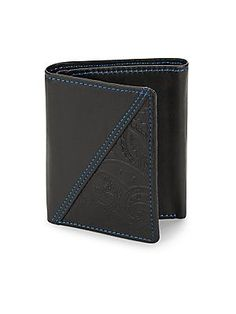 Robert Graham Leather Bi-Fold Wallet - Black - Size No Size