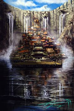 City below the dam by *RavenseyeTravisLacey on deviantART